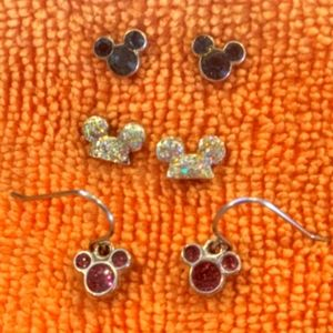 Set of 3 Pairs of Disney Earrings